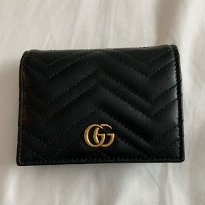 Gucci Authentic Marmont Matelassé blackwallet NWOT